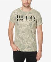 Buffalo David Bitton Men's Camouflage Linen Blend T-Shirt