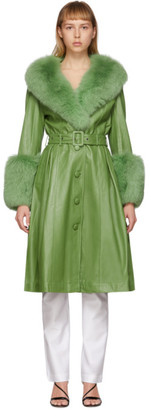 Saks Potts Green Fur Foxy Coat