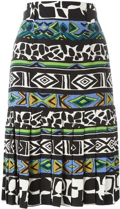 Jean Louis Scherrer Pre Owned printed A-line skirt