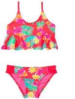 Hobie Girls' Swimwear Tropical Locales Hanky Bralette Bikini Set (7yrs14yrs) - 8140623