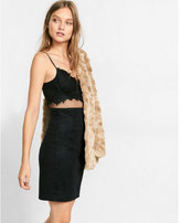 Express black lace and mesh dress