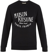 MAISON KITSUNÉ Crew-neck logo-print cotton sweatshirt