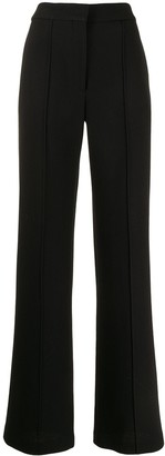 Adam Lippes Pintucked Crepe Wide-Leg Trousers