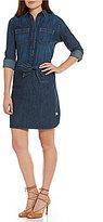 Lauren Ralph Lauren Self-Tie Denim Shirtdress