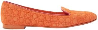 Christian Dior Orange Suede Flats