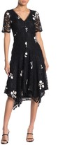Taylor Mechanical Embroidered Lace Shift Dress