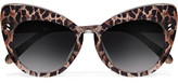 Stella McCartney Cat-eye Leopard-print Acetate Sunglasses - Brown