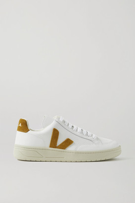 Veja + Net Sustain V-12 Suede-trimmed Leather Sneakers - White
