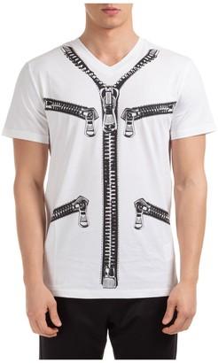 Moschino Zip Print T-Shirt