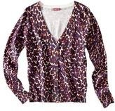 Merona Women's Ultimate V-Neck Cardigan Sweater - Animal Print