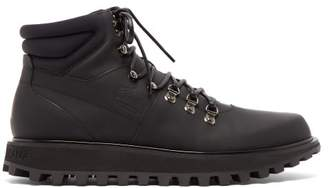 Dolce & Gabbana Padded Matte Leather Hiking Boots - Mens - Black
