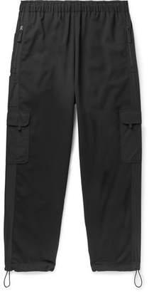 McQ Black Tech Wool-Blend Cargo Trousers