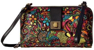 Sakroots Artist Circle Large Smartphone Crossbody (Rainbow Spirit Desert) Clutch Handbags