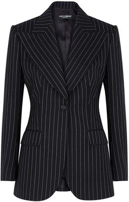 Dolce & Gabbana Pinstriped Wool-blend Blazer