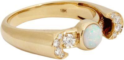 Pamela Love Fine Jewelry Opal, Diamond & Gold Luna Ring