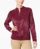 Alfred Dunner Chenille Half-Zip Sweater