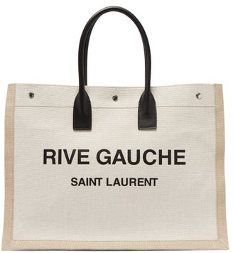 Saint Laurent Noe Logo-print Canvas Tote Bag - White Multi