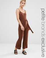 One Day Petite Wrap Front Cami Strap Awkward Length Jumpsuit