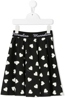 MonnaLisa Heart print skirt
