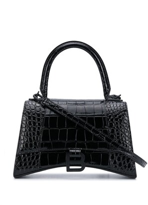 Balenciaga S Hourglass top handle tote