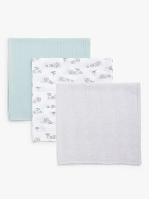 John Lewis & Partners Baby Savanna Muslin Cloths, Pack of 3, Multi