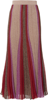 Missoni Metallic Thread Pleated Skirt