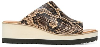 Vince Sarria Snakeskin-Embossed Leather Wedge Mules
