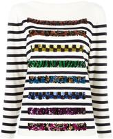 Marc Jacobs embroidered boat neck sweater