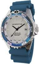 Momentum Women's Quartz Stainless Steel and Rubber Diving Watch, Color:Blue (Model: 1M-DN11LT1T)