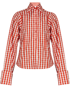 Marques Almeida MARQUES'ALMEIDA Gingham long-sleeved cotton shirt