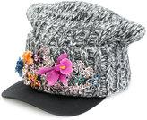 DSQUARED2 embellished flower cap