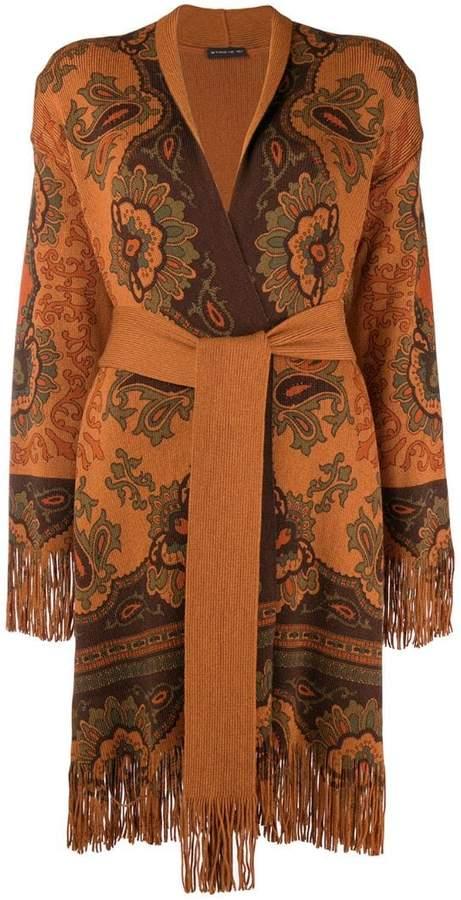 Etro fringed embroidered cardigan