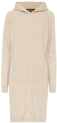 Loro Piana Hooded cashmere knit dress