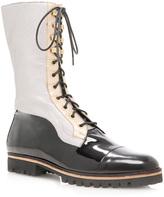 Rodarte Patent Combat Boot