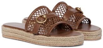 Gianvito Rossi Leather espadrille sandals