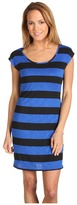 Type Z Hachi Sheer Back Dress (Blue/Black) - Apparel