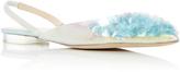 DELPOZO Pointy Sequin Ballerina Slingbacks