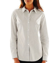 JCPenney Worthington Long-Sleeve Button-Front Shirt - Tall