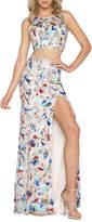 Mac Duggal Two-Piece Sequin Formal Top & Skirt Set