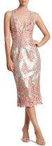 Dress the Population Women's Angela Sequin & Lace Midi Dress