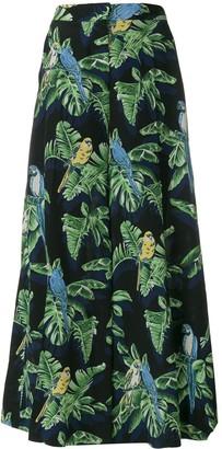 Stella McCartney Tropical print wide-leg trousers