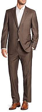 Saks Fifth Avenue BY SAMUELSOHN Classic-Fit Two-Button Wool Suit