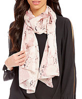 Vince Camuto Marbleized Silk Oblong Scarf