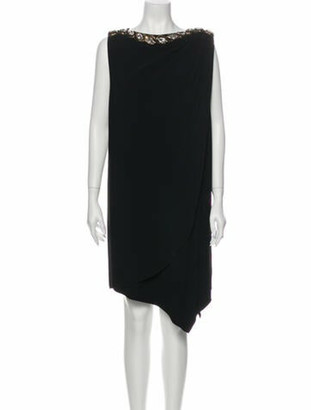 Gucci Crew Neck Midi Length Dress Black