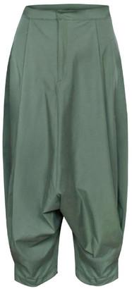 Dark Green Harem Trousers
