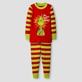 Dr. Seuss Toddler Grinch Long Sleeve Tight Fit 2-Piece Pajama Set Red 4T