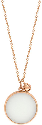 ginette_ny Ever White Agate Disc On Chain - Rose Gold