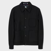 Paul Smith Men's Black Wool-Cashmere Chore Jacket