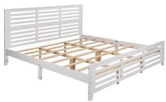 Red Barrel Studio Awaah Platform Bed Color: Gray, Size: King