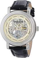 Akribos XXIV Men's AK634SSW Retro Analog Display Chinese Automatic Black Watch